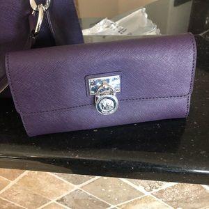 NWOT Michael Kors authentic leather long wallet